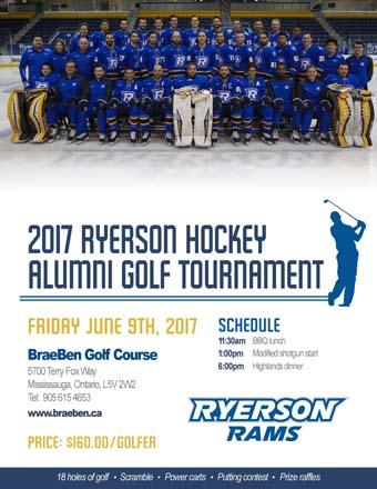 ryerson rams hockey alumni golf tournament