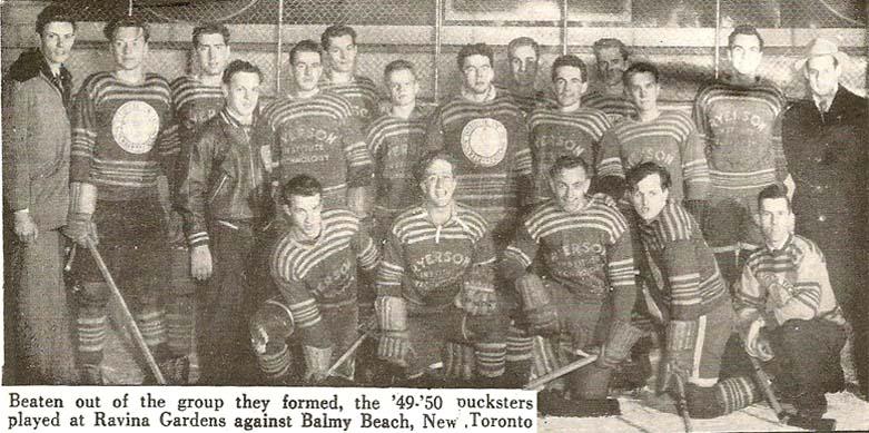 ryerson rams hockey first team 1949-50