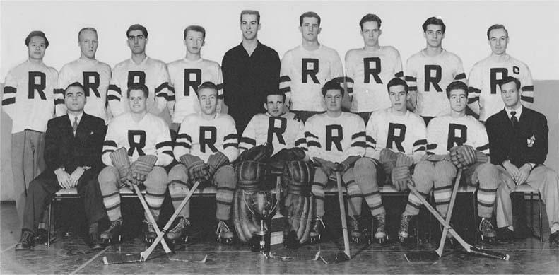 1951-52 ryerson rams hockey first champions