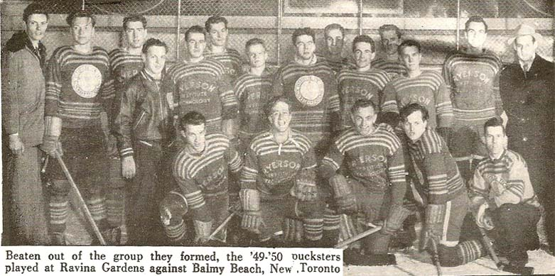 ryerson rams hockey first team 1949-50
