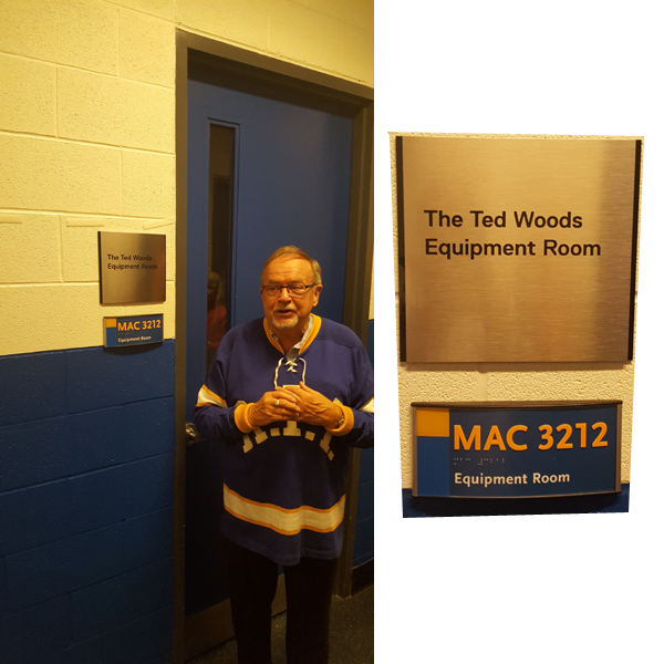 ted woods equipment room ryerson hockey