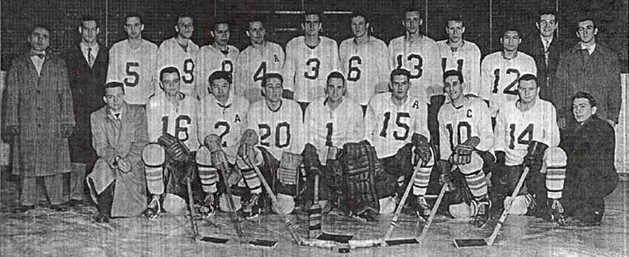 ryerson rams 1955-56 hockey champions